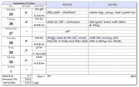 Food Journal Excel Template Lovely Health Running Log