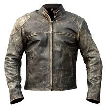 distressed brown vintage motorcycle leather jacket fashion zoom men s