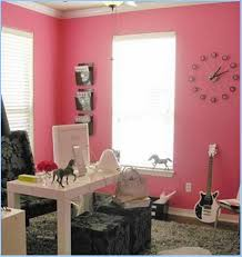 pink home office design idea. Great Home Office Design Idea With Feminine Pink Wall Color E