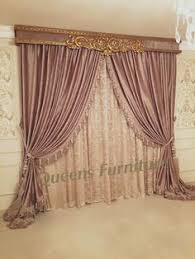 Small Picture European style Luxury Living Room BLUE Jacquard Curtains Drapes
