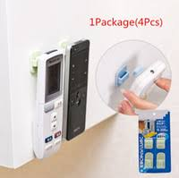 tv hangers. wholesale- plastic hooks 1package(4pcs) sticky hook set tv air conditioner remote control key practical wall storage holder strong hanger tv hangers