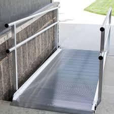 image of wheelchair ramps for stairs modular