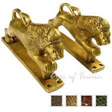 6 Pair Brass Lion Cabinet Pulls Door Handles Antique Bronze Indian