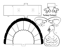 Small Picture Thanksgiving Coloring Pages Cut Outs Cut Paste And Color A Turkey