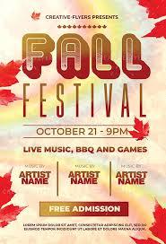 Fall Festival Flier Fall Festival Flyer Template