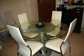 round dining table with lazy susan room glass in built and 4 2 large seats 8