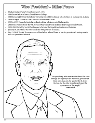 president donald j trump coloring page vice president mike pence coloring page