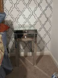 Furniture Side Table Tar Mirrored Furniture With Single Drawer