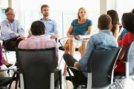 office meeting. MultiCultural Office Staff Sitting Having Meeting Together Stock Photo Colourbox