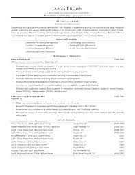 Superintendent Construction Resume Construction Project Manager Resume Skills Example Of Assistant