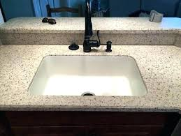 integrated bathroom sink and countertop modern concrete bathroom