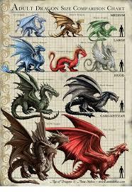 O Adult Dragon Size Comparison Chart Ages Medium Ice Drago