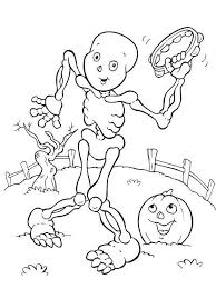 Small Picture Halloween Coloring Pages Skeleton Halloween Halloween Coloring