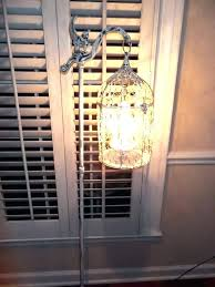 farmhouse floor lamp chandelier vintage bird cage light shabby chic chippy french shades ideas
