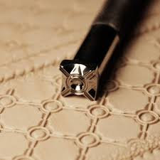 leathercraft ferramenta diy handmade tool for leather carving and printing concentric geometric pattern stamp staming