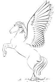 Rearing Pegasus Coloring Page Free Printable Coloring Pages
