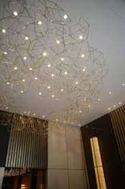 wow the starry sky ceiling without having to cut into the wall chandelier studio