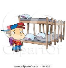 Royalty Free RF Clip Art Illustration of a Cartoon Summer Camp Boy