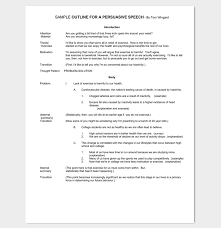 persuasive speech outline template examples samples formats sample persuasive speech outline