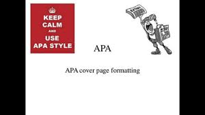 How To Create An Apa Cover Page Youtube