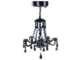 black locker chandelier