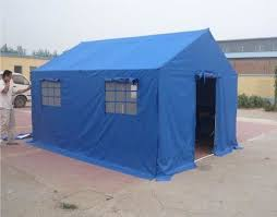 Civil Affairs Emergency Outdoor Canvas Tent  Military Wall Tent With PVC  Fabric