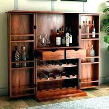 rustic bar cabinet liquor medium size of unit furniture wooden reclaimed wood cart wi