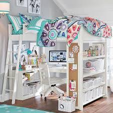 Elegant White Loft Bed With Desk 2
