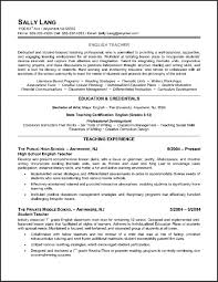 Resume Templates: Example Of Teacher Resume Templates Example Of ...