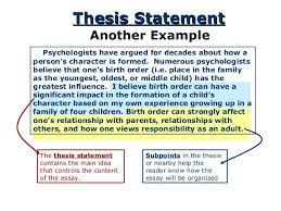 the thesis statement a road map for your essay  essay will be organized 5