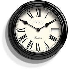 newgate gallery wall clock ebony