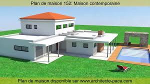 plan de maison contemporaine 152 d architecte architecte paca you
