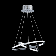 endon kline 2ch kline 2 ring pendant 21w chrome effect plate indoor pendant light