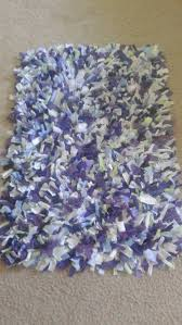 shabby chic rag rug gy purple recycled materials