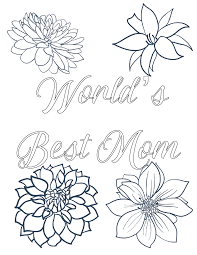 Colouring sheets can make for good homework activities. Free Printable Mother S Day Coloring Pages 4 Designs
