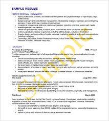 Event Manager Resume Samples 8 Event Planner Resume Templates Doc Excel Pdf Free