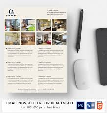 Real Estate Newsletter Template 24 EMail Newsletter Word PSD HTML Format Free Premium 19