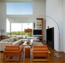 superb arc floor lamp in living room modern with new york apartment regarding modern floor lamps