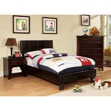 Furniture of America Kutty Modern Twin Size Padded Leatherette Platform Bed  - Free Shipping Today - Overstock.com - 15282893