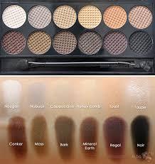 Тени для век в палетке sleek makeup eyeshadow palette i divine au naturel 601
