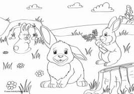 Coloring page of a rabbit. Rabbit Colouring Pages