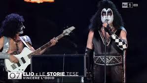 Sanremo 2016, Elio e le storie tese in versione Kiss - Foto - Soundsblog