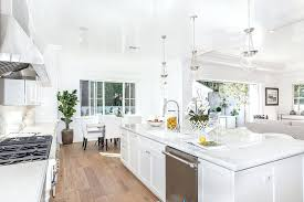 White Kitchen Cabinets Marble Countertops Luxury One Wall With  Counter And Maple   H5