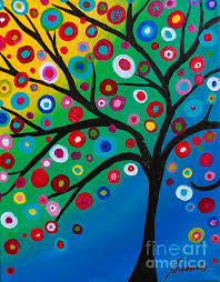 tree of life tree of courage folk art painting mexican art curator