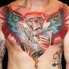 Tattoo Hrudník Oldnew School Tattoo Galerie Tetováníblogcz