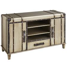 bristol silver trunk  tv stand  pier  imports