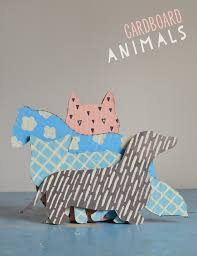 diy cardboard animals recycled art from boxes free templates small for big