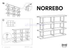 Ikea Instruction Manuals Assembly Instruction For Storage Furniture Ikea Norrebo Shelving