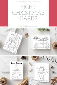 So these are perfect for teens, ambitious tweens. Free Printable Christmas Cards To Colour Mum In The Madhouse
