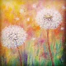 dandelion acrylic painting tutorial by angela anderson on you dandelion wildflowers acrylicpainting